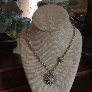 Starburst Pendant Necklace- Two tone, NWOT